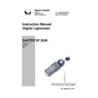 SP 200K Light Meter - Datasheet
