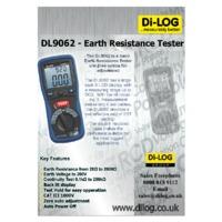 DiLog DL9062 Earth Resistance Tester - Spec Sheet