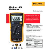 Fluke 115 Digital Multimeter - Data Sheet