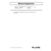Fluke 1660 Series Multifunction Testers - User Manual Supplement