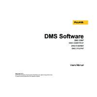 Fluke DMS Software - User Manual