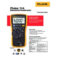 Fluke 114 Digital Multimeter - Datasheet