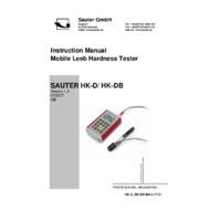 Sauter Leeb-HK Series - User Manual