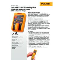 Fluke PRV240FS Proving Unit - Datasheet