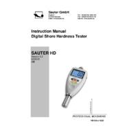 Sauter HD Shore Hardness Tester Series - User Manual