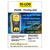 DiLog PU260 Proving Unit - Specsheet