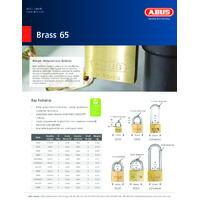 ABUS 65 Series Brass Padlocks - Specsheet