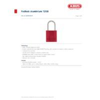 ABUS 72-30 Aluminium Padlock - Datasheet