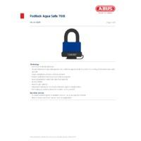 ABUS 70IB Aqua Safe Padlock - Datasheet