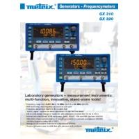 Chauvin Arnoux GX320 Generator - Datasheet