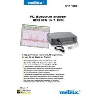 Chauvin Arnoux MTX1050PC 1 GHz PC Virtual Spectrum Analyser c/w s/w USB Lead Mains Lead and Documentation