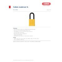 ABUS 74-40 Intrinsically Safe Padlock - Datasheet