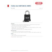 ABUS 83WP Hardened Alloy Padlock- Datasheet