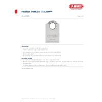 ABUS 90RK-50 TITALIUM Padlock - Datasheet