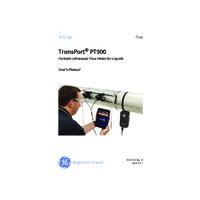 GE Panametric Transport® PT900 Portable Ultrasonic Liquid Flow Meter - User Manual