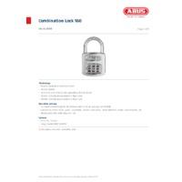 ABUS 160 Prestige Code Combination Lock - Datasheet