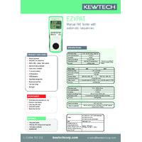 Kewtech EZYPAT PAT Tester - Datasheet