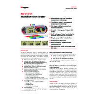 Megger MFT1741 Multifunction Tester - Datasheet