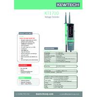 Kewtech KT1710 2-Pole Voltage Detector - Datasheet