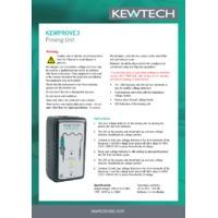 Kewtech KEWPROVE 3 Proving Unit - Instruction Sheet