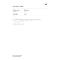 DJI CrystalSky Realease Notes