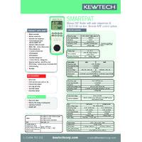 Kewtech SMARTPAT PAT Tester - Datasheet