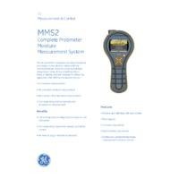 Protimeter MMS2 Moisture Measurement System - Datasheet