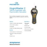 Protimeter Hygromaster2 Thermo-Hygrometer Kits - Datasheet