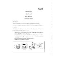 Fluke Y2638X Rack Mount Kit for Fluke's 2638A Hydra III - Instruction Sheet