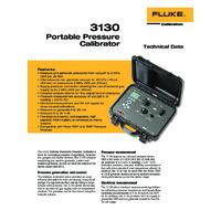 Fluke 3130 Portable Pneumatic Pressure Calibrator - Datasheet