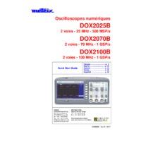 Chauvin Arnoux Metrix® DOX2000B Series Benchtop Digital Oscilloscopes - Quick Start Guide