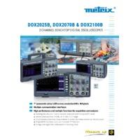 Chauvin Arnoux Metrix® DOX2000B Series Benchtop Digital Oscilloscopes - Datasheet