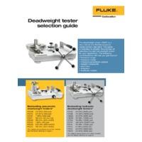 Fluke Deadweight Pressure Tester Selection Guide