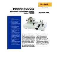 Fluke P3000 Series Deadweight Pressure Tester - Datasheet