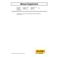 Fluke 7102-256 Micro Bath Temperature Calibrator - User Manual Supplement