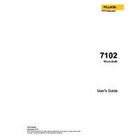 Fluke 7102-256 Micro Bath Temperature Calibrator - User Manual