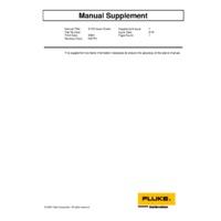 Fluke 9133-256 Portable IR Calibrator - User Guide Supplement
