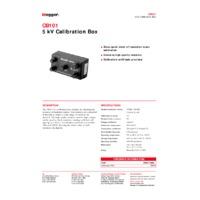 Megger CB101 5kV Calibration Box - Datasheet