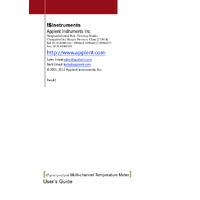 Applent AT420x Handheld Multi-Channel Temperature Meter -User Manual