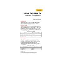 Fluke 1551A and 1552A Calibration Stik Thermometers - Instruction Sheet