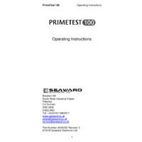 Seaward PrimeTest 100 - Operating Instructions