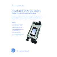 GE Druck DPI 612 Pressure Calibrator - Datasheet