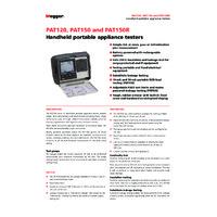 Megger PAT120, PAT150, PAT150R PAT Tester - Datasheet