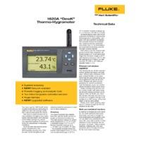 Fluke 162XA DewK Thermo-Hygrometer – Choice of Sensor - Datasheet