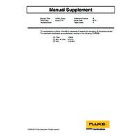 Fluke 1586A Super DAQ - User Manual Supplement