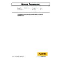 Fluke 1586A Super DAQ - Calibration Manual Supplement