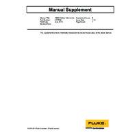 Fluke 1586A Super DAQ - Safety Information Supplement