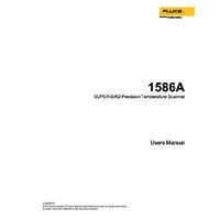 Fluke 1586A Super DAQ - User Manual