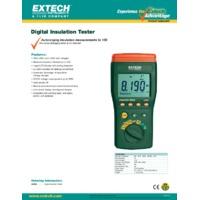 Extech 380363 Digital High Voltage Insulation Tester - Datasheet