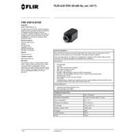 FLIR A35 Thermal Imaging Camera -  FOV 25 (60Hz ver. 2017) - Datasheet
